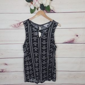 Maurices | Black/White Paisely Top